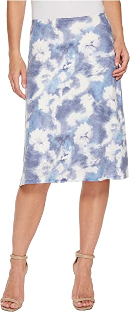 Nally & Millie - Blue Tie-Dye Printed Skirt