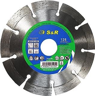 S&R Disco de corte de diamante, 125 x 22,2 x 10 mm, Hoja