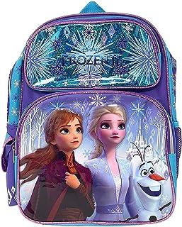 """Disney Frozen 2 Elsa & Anna Kids Backpack 16"""" Large Bag- 19214"""