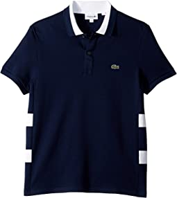 Short Sleeve 3 Ply Textured Pique Regular Fit Polo