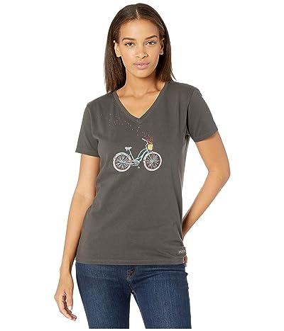 Life is Good Bike Heart Basket Crushertm Vee (Night Black) Women