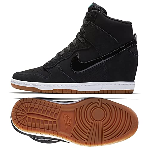 a0f8eebec43 Nike Dunk Sky Hi Essential 644877-011 Black Sail Gum Hidden Wedge Women s