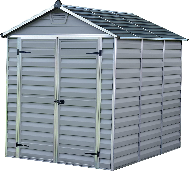 Palram SkyLight Shed 6x8ft Durable Storage – Grey