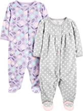Simple Joys by Carter`s Baby Girls` 2-Pack Fleece Footed Sleep and Play