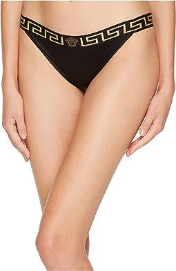 Versace - Tanga Elastic Gold Medusa Bikini Bottoms