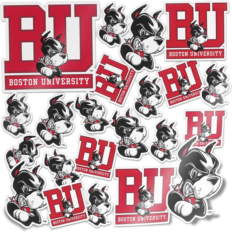 Boston University Terriers BU Sticker Vinyl Decal Laptop Water Bottle Car Scrapbook (Type 1 Sheet)