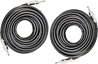 Ignite Pro 2X 1/4 to 1/4 50 Ft. True 12 Gauge Wire AWG DJ/Pro Audio Speaker Cable, Pair