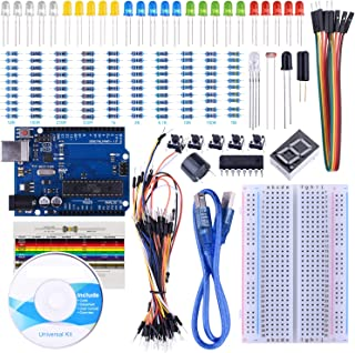 STARTO UNO Starter Kit for Arduino with Free Tutorials, UNO R3 Board, Breadboard, Sensor, USB Cable, Display, Resistors, Jumper Wires and Dupont Wires (Arduino Starter Kit)