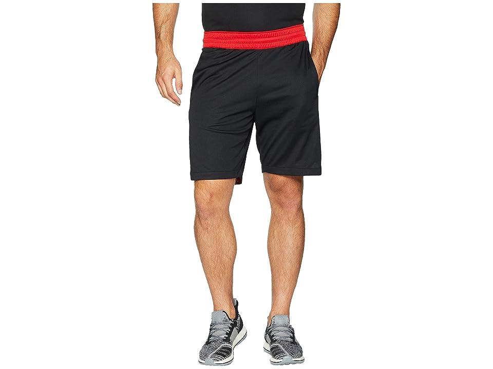 adidas Accelerate 3-Stripes Shorts (Black/Scarlet) Men's Shorts