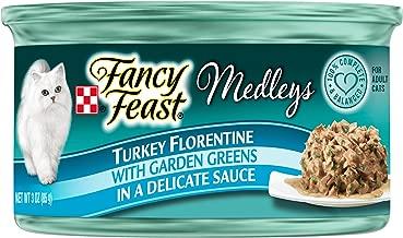 Fancy Feast Elegant Medley`s Turkey Florentine w/ Garden Greens Canned Cat Food 24 - 3oz Cans