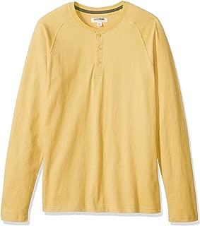Amazon Brand - Goodthreads Men's Long-Sleeve Sueded Jersey Henley