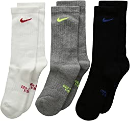 Performance Cushioned Crew Training Socks 3-Pair Pack (Little Kid/Big Kid)