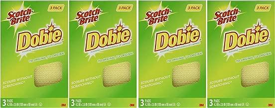 3M Scotch-Brite Dobie All Purpose Pads, 3Count (Pack of 4) Total 12 Pads