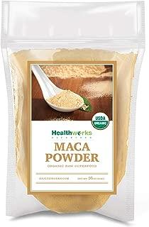 Healthworks Maca Powder Raw (16 Ounces / 1 Pound) | Certified Organic Flour Use | Keto, Vegan & Non-GMO | Premium Peruvian Origin | Breakfast, Smoothies, Baking & Coffee | Antioxidant Superfood