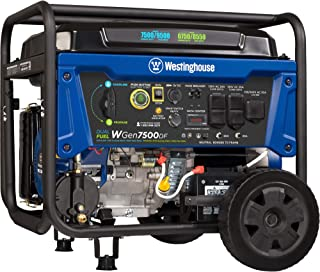 Westinghouse WGen7500DF Dual Fuel Portable Generator 7500 Rated & 9500 Peak Watts,..