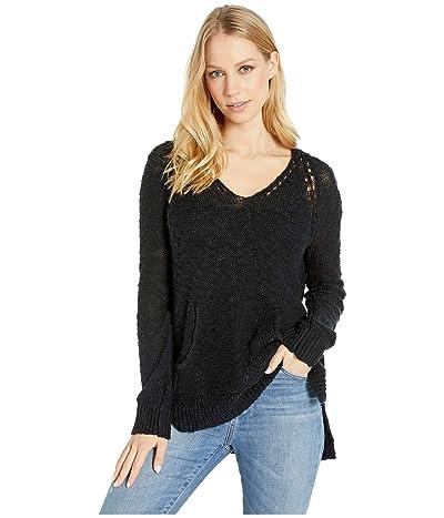 Roxy Airport Vibes Hooded Sweater (True Black) Women