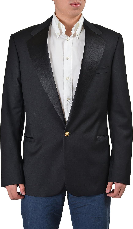 Versace Gianni Tailor Made Men's Wool Tuxedo Sport Coat Blazer US 40 IT 50 Black