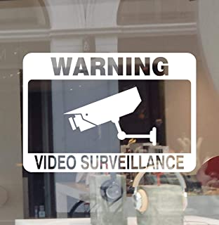 Warning Video Surveillance Decal CCTV Camera Logo Sign Sticker Monitoring Security
