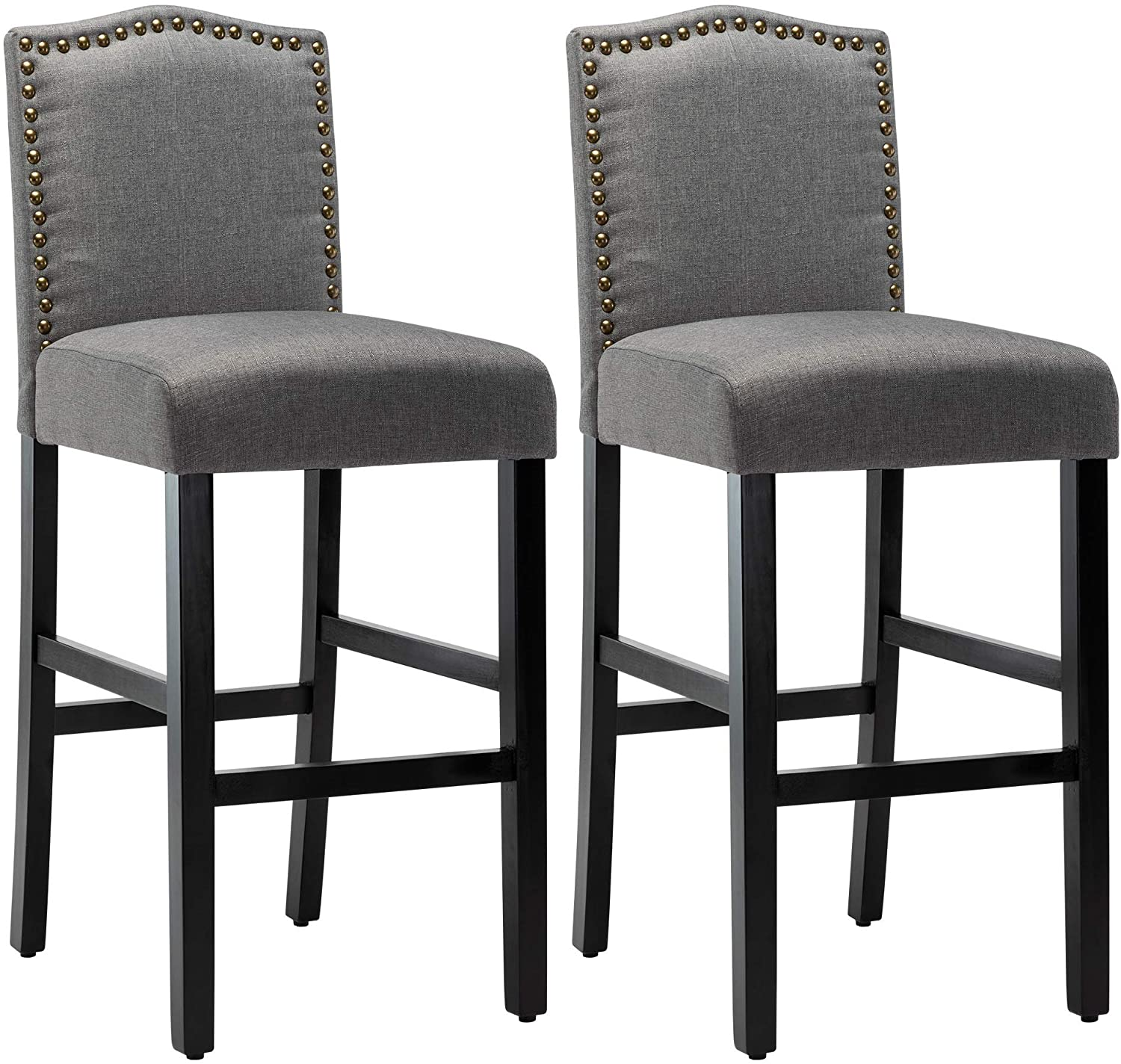 LSSPAID 29.5 inches Fabric Backed Bar of Set 2 Super special price Ranking TOP8 Co Stools