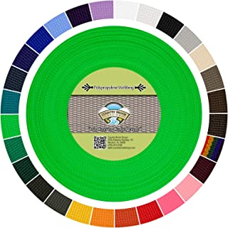 Country Brook Design - Polypropylene Webbing (Hot Lime Green, 50 Yards, 1 Inch)