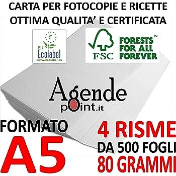 A5 Canon 97004078 Carta per Fotocopiatrice//Stampante 80 G//Mq Formato A5