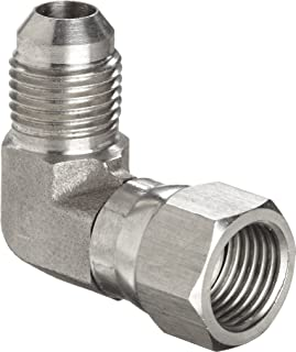 Brennan 2501-08-08-SS Stainless Steel JIC Tube Fitting 1//2 Tube OD x 1//2-14/  NPTF Male 08MJ-08MP 90 Degree Elbow