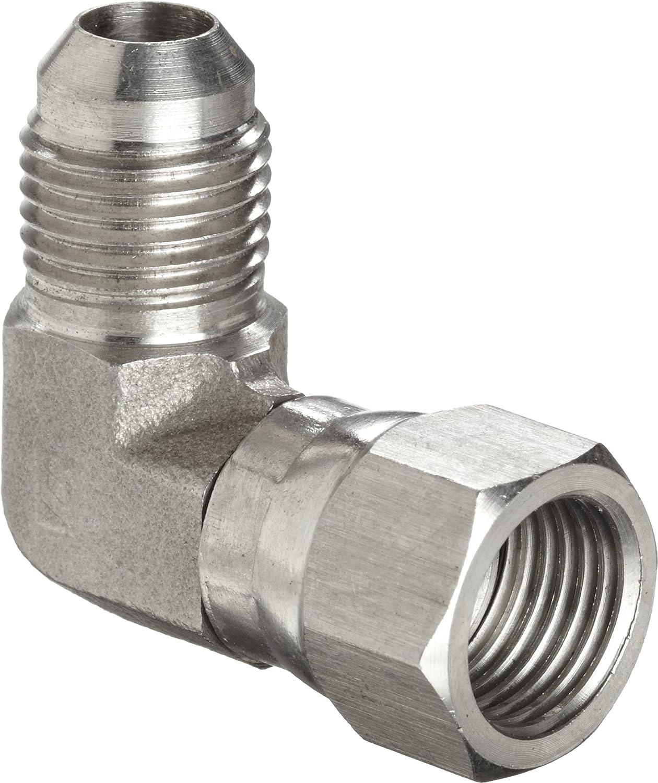 Brennan 1704-10-10 Steel JIC Flared Tube Fitting Flange 90 Degree Elbow Code 61 5//8 Tube OD x 5//8 Flange 5//8 Tube OD x 5//8 Flange BREGG