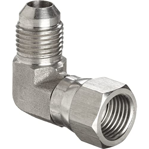 Brennan Industries 6501-02-04-FG Forged Steel 90 Degree Elbow Tube Fitting 1//4 Male NPTF x 1//4 Female JIC Swivel 1//8-27 NPTF x 7//16-20 SAE Thread 1//4 Male NPTF x 1//4 Female JIC Swivel BREGG 1//8-27 NPTF x 7//16-20 SAE Thread