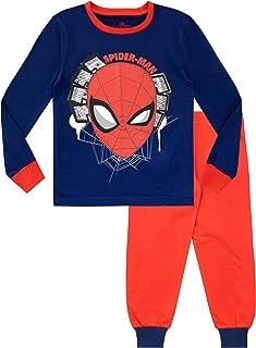 Marvel Pijamas de Manga Larga para niños Spiderman Ajuste Ceñido