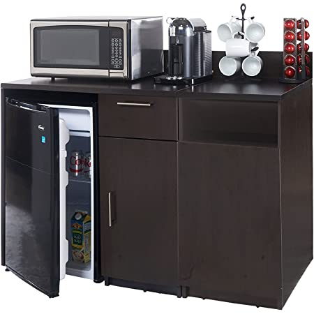 Amazon Com Breaktime 2 Piece Coffee Kitchen Lunch Break Room Furniture Cabinets Fully Assembled Ready To Use Instantly Create Your New Break Room Espresso Home Kitchen