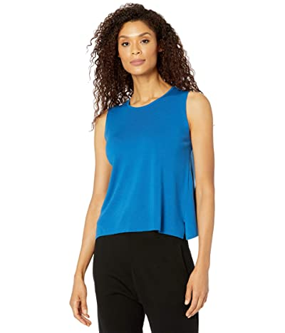 Eileen Fisher Crew Neck Shell (Marine) Women