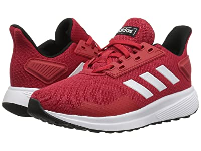 adidas Kids Duramo 9 (Little Kid/Big Kid) (Scarlet/White) Boy