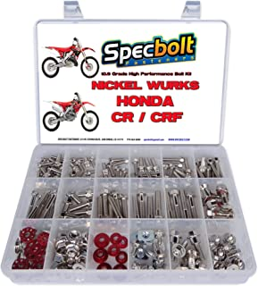 Specbolt Fasteners Brand Nickel Wurks Bolt Kit: fits Japanese Style Off-Road Dirtbikes Like Honda CR CRF 80 85 125 150 250 450 500 CRF250 CRF450 CR125 CR250 CR500