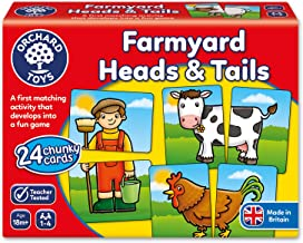 Orchard Toys Farmyard Heads and Tails Children's Game, Multi, One Size