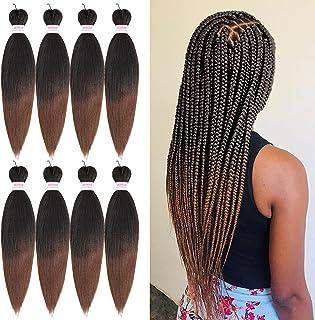 Pre Stretched Braiding Hair 30 Inch 8 Packs Braiding Hair Omber Long Braid Professional Synthetic Fiber Crochet Braids (1...