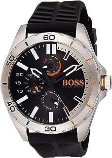 Hugo Boss Mens Quartz Watch, Chronograph Display and Silicone Strap 1513290
