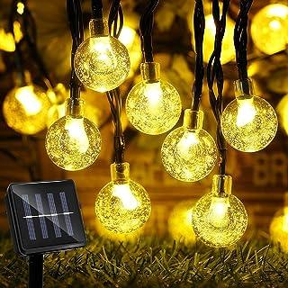 Hunrim Solar Globe String Lights Fairy Lights,39.37ft 100 LED String Lights with 8-Mode Waterproof Indoor Outdoor Hanging ...