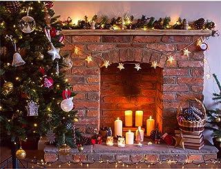 Werse 7x5FT Vinilo Retro ¨rbol de Navidad Chimenea fotograf¨ªa Fondo Background Props Studio