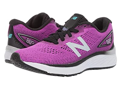 New Balance Kids 880v9 (Little Kid/Big Kid) (Voltage Violet/Black) Girls Shoes