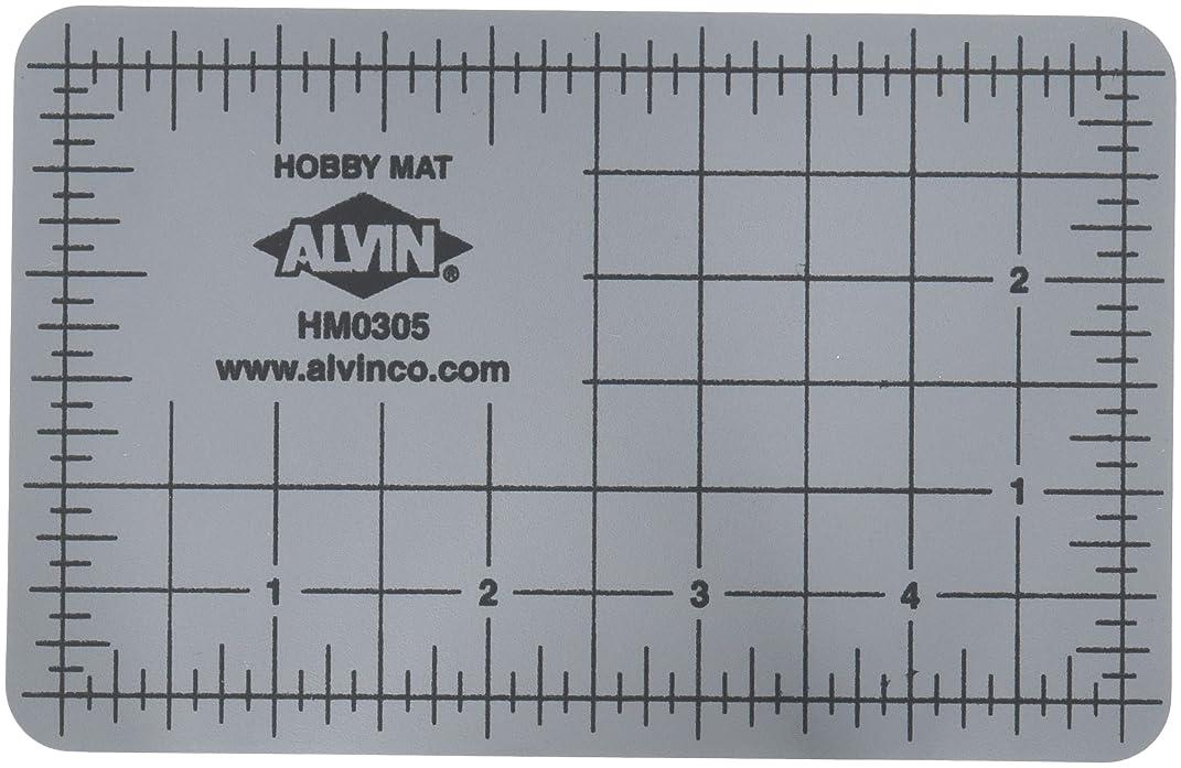 Alvin HM0305 Blue/Gray Self-Healing Hobby Mat, 3 1/2 x 5 1/2