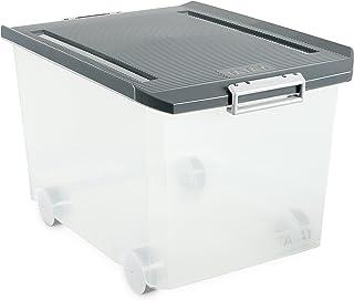 Tatay - Caja Multiusos con Ruedas, 60 L, Gris, 40 x 56.5 x 36.2 cm