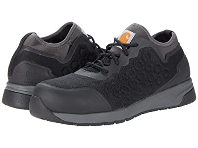 Carhartt Force Nano Composite Toe SD Work Sneaker (Black Mesh/Grey Synthetic) Men