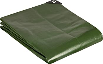 GardenMate 3x3m / 10ftx10ft Tarpaulin Waterproof Heavy Duty - Green tarp Sheet - Premium Quality Cover Made of 200gram/square metre Tarpaulin