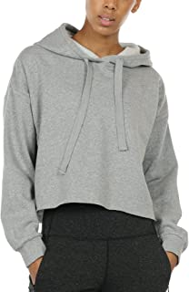 Workout Sweatshirts for Women - Long Sleeve Crop Top Hoodie Exercise Pullover