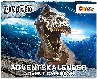 CRAZE Kalendarz adwentowy DINOREX kalendarz adwentowy z dinozaurami, kalendarz bożonarodzeniowy 2021 dla dzieci, kalendarz...