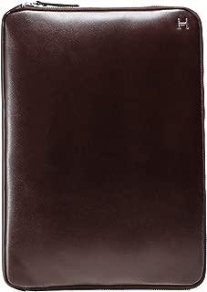 Hackett Men's Leather H Portfolio Brown