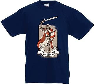 lepni.me Kids T-Shirt God Wills it! The Knight Templar Crusader's Red Cross