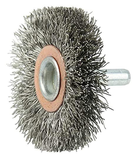 Weiler 01809 8 Narrow Face Crimped Wire Wheel.0118 Stainless Steel Fill 1-1//4 Arbor Hole Pack of 2