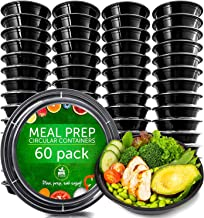 Meal Prep Containers [60 Pack] - Plastic Food Containers Meal Prep Container - Reusable Plastic Containers with Lids - Food Storage Containers with Lids Food Prep Containers Reusable Lunch Containers