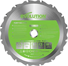 Evolution Power Tools F185TCT-16T (Fury) Multi-Material TCT Blade Cuts Wood, Metal and Plastic, 185 mm